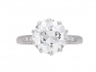 Edwardian solitaire diamond ring berganza hatton garden