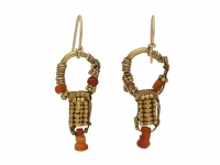 Ancient Parthian carnelian earrings berganza hatton garden