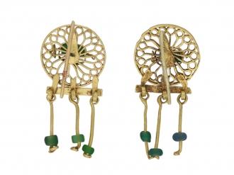 Ancient Roman beaded drop earrings berganza hatton garden