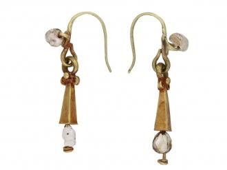 Ancient Roman gold and pearl earrings berganza hatton garden