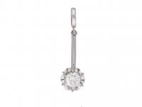 Edwardian diamond pendant berganza hatton garden