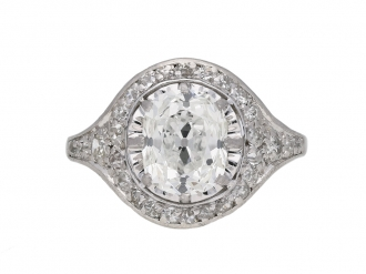 Art Deco diamond cluster ring berganza hatton garden