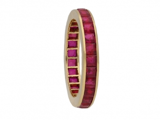 Vintage ruby eternity ring,berganza hatton garden
