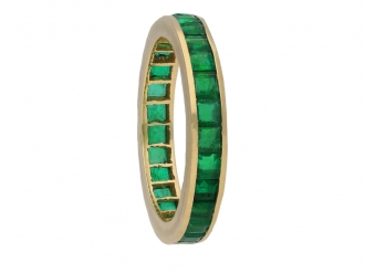 Vintage emerald eternity ring berganza hatton garden