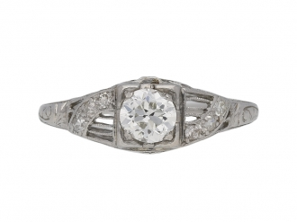 Old cut diamond engagement ring berganza hatton garden