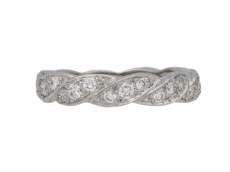 Oscar Heyman diamond twist eternity ring berganza hatton garden
