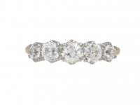 Antique diamond five stone ring berganza hatton garden