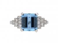 Art Deco aquamarine and diamond ring berganza hatton garden