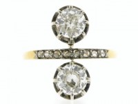 Antique diamond ring/earrings, circa 1905.