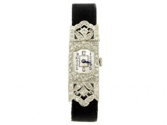 Diamond set dress watch, circa 1935.