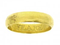 Gold posy ring 'FEARE GOD ONLY', 17th century.
