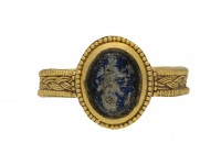 front view Ancient Roman solder ring berganza hatton garden