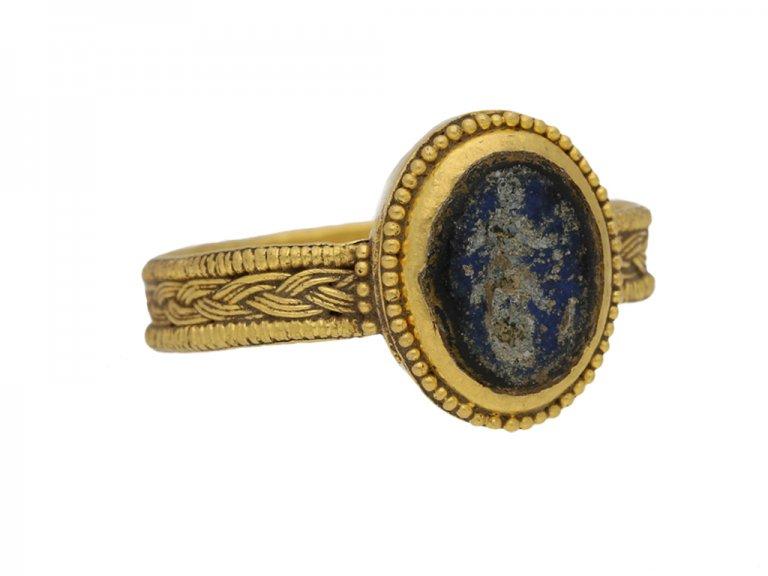 side view Ancient Roman solder ring berganza hatton garden