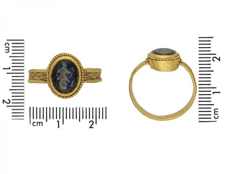 size view Ancient Roman solder ring berganza hatton garden
