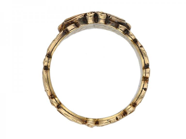 Antique mourning ring gold berganza hatton garden