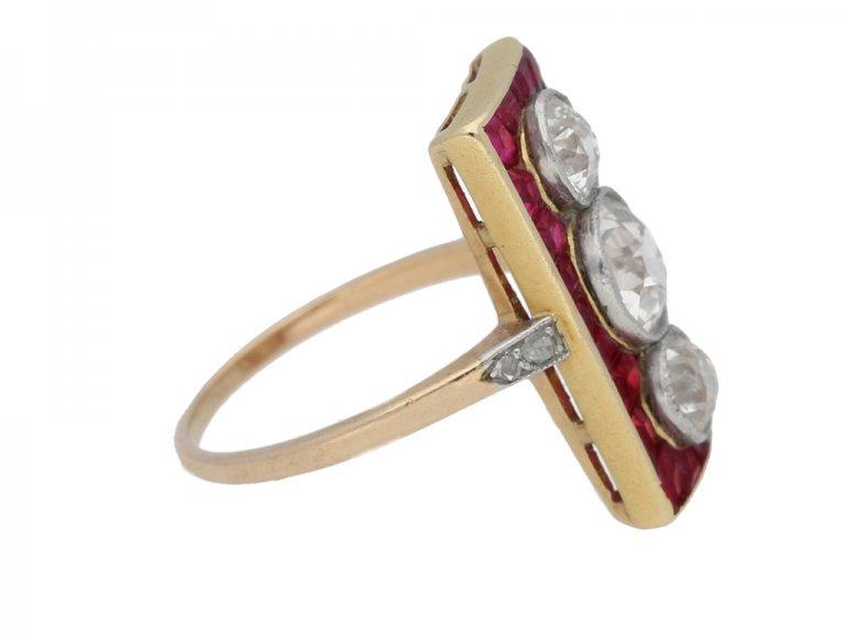 antique diamond ruby ring berganza hatton garden