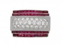 front view tiffany diamond ruby ring hatton garden berganza
