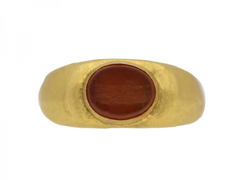 Ancient Roman signet ring hatton garden berganza