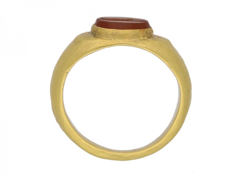 size view Ancient Roman signet ring hatton garden berganza