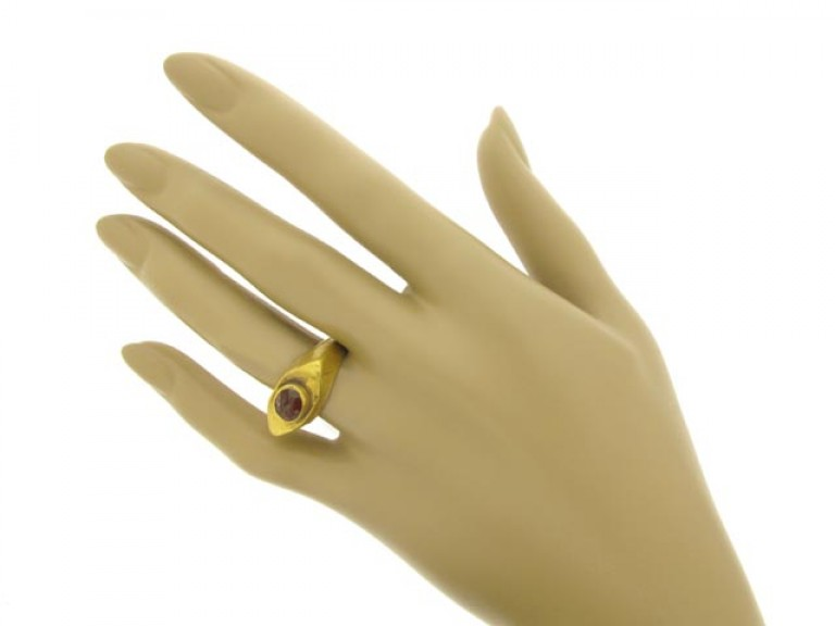 hand view Ancient Roman cornelian signet ring