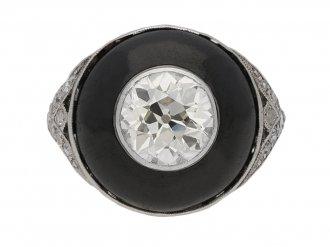 art deco diamond enamel ring berganza hatton garden