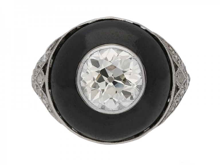 art deco diamond enamel ring berganza hatton garden