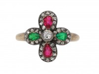 antique emerald ruby diamond ring berganza hatton garden