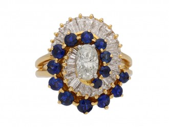 Oscar Heyman diamond sapphire ring hatton garden berganza