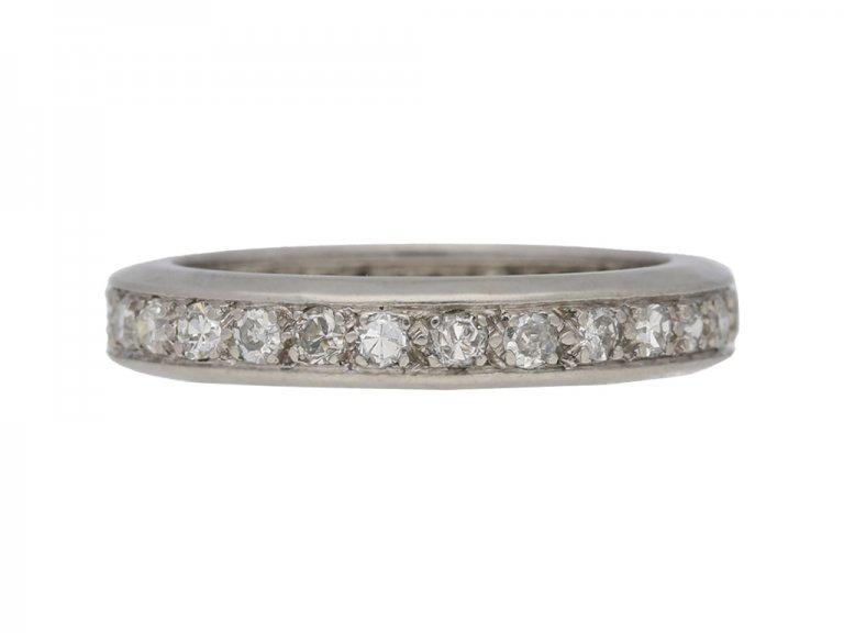 Vintage eternity diamond ring berganza hatton garden
