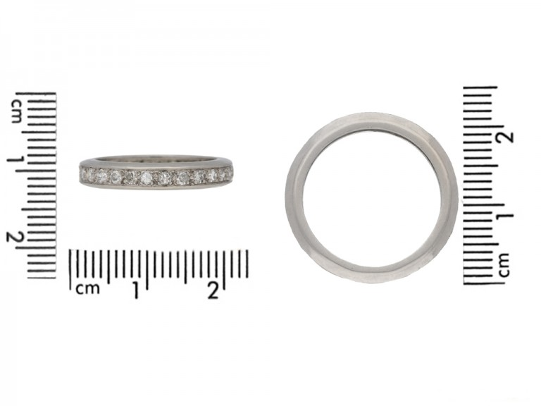 size view Vintage eternity diamond ring berganza hatton garden
