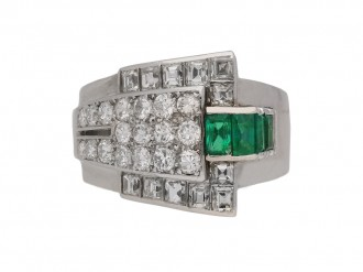 vintage emerald diamond ring berganza hatton garden berganza