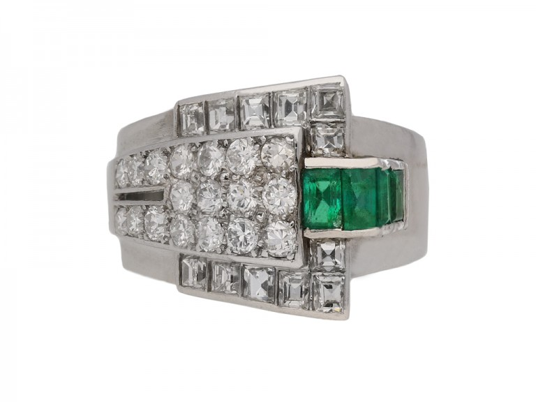 vintage emerald diamond ring berganza hatton garden berganza