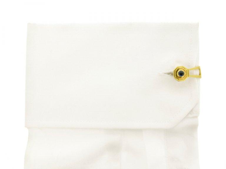 cuffl view Cabochon sapphire cufflinks, circa 1950.