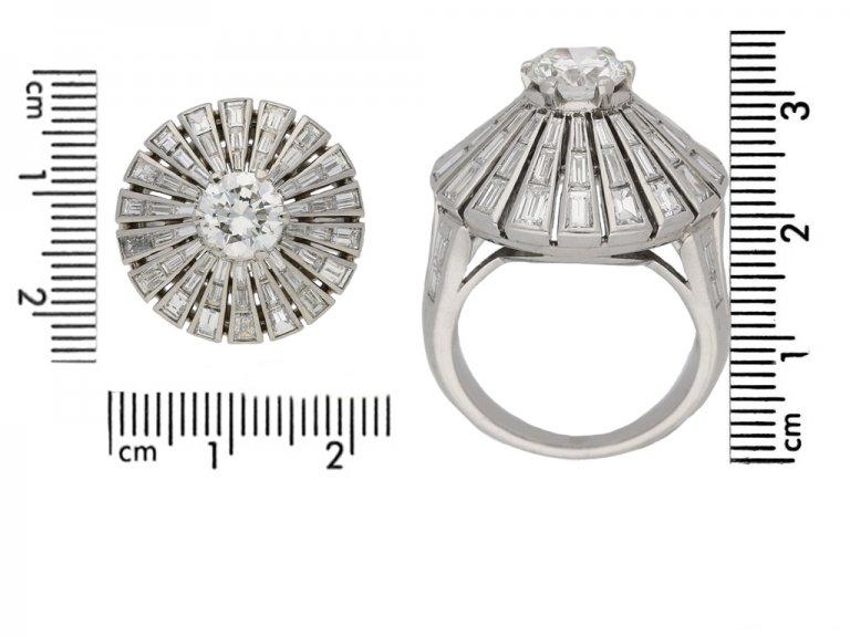 size view vintage diamond cluster ring berganza hatton garden