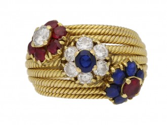 sapphire ruby diamond dress ring berganza hatton garden