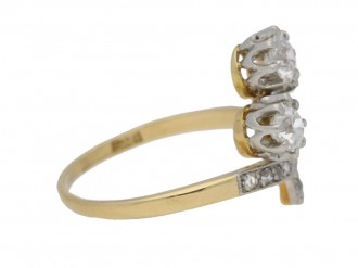 front view Art Nouveau diamond ring hatton garden berganza