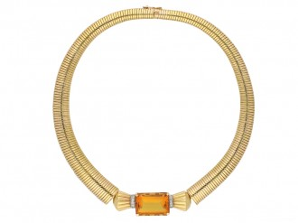 vintage citrine diamond necklace hatton garden berganza