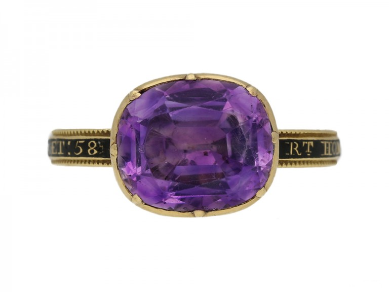 Amethyst memorial ring for the Right Honourable George Grenville