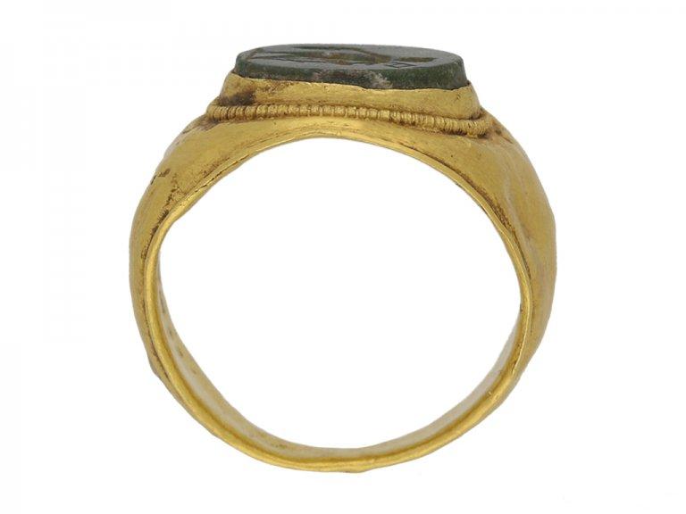 back view Ancient Roman ring mercury berganza hatton garden