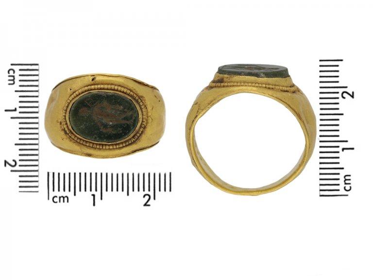 size view Ancient Roman ring mercury berganza hatton garden