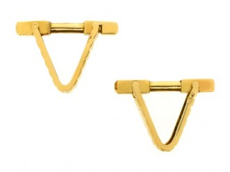 18 carat yellow gold cufflinks, circa 1960.