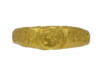 front view Ancient Roman gold ring hatton garden berganza