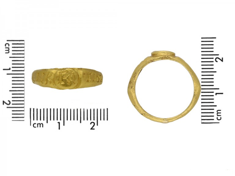 size view Ancient Roman gold ring hatton garden berganza