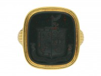 antique bloodstone signet ring berganza hatton garden