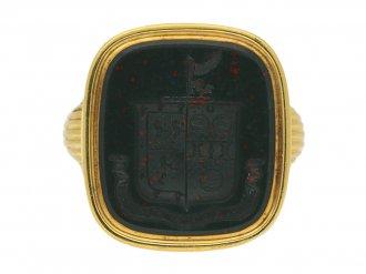 antique bloodstone signet ring berganza hatton garden