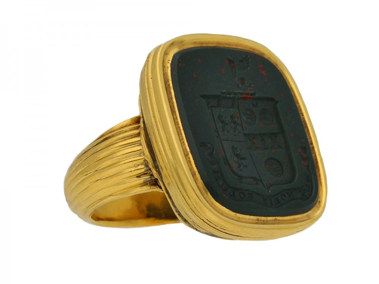 front antique bloodstone signet ring berganza hatton garden