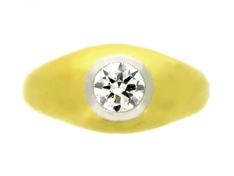 front view Solitaire diamond ring, circa 1946.