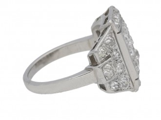 front view art deco diamond ring berganza hatton garden