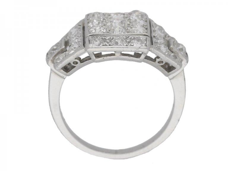 art deco diamond ring berganza hatton garden