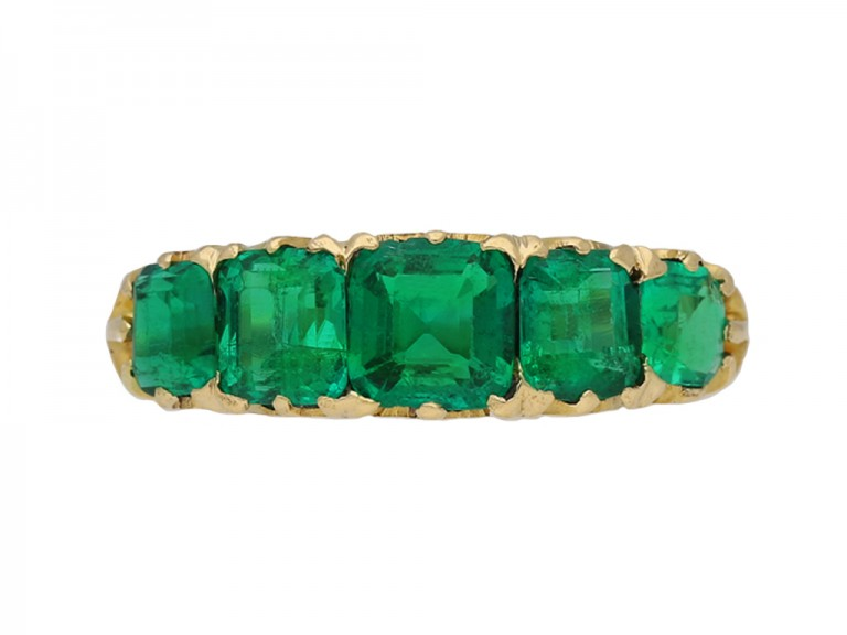 antique emerald gold carved ring berganza hatton garden